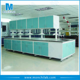 Chemistry Laboratory Steel Lab Island Bench with Hanging Cabinet