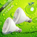 220lm 360lm 660lm 770lm 1050lm 7*10W LED Flat PAR Light