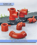 High Toughness and Strength PPH Threaded Pipe Fittings and Elbow