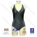 Lycra V-Neck One-Piece Swimwear
