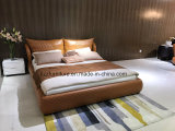Contemporary Modular Italian Leather Bedroom Bed Set