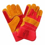 Cow Split Leather Industrial Working Gloves