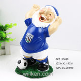 Soccer Garden Ornament Gnomes, Garden Gnome Art