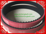 Good Tensile Strength Top Coated Timing Belts Red Color