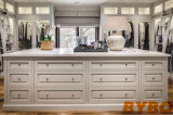 Light Gray Closet with Mirrored Makeup Vanity Cabinets (BY-W-24)