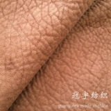 Polyester Suede Embossed Compound Fabric for Sofa