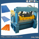 Colored Steel Glazed Tile Cold Roll Forming Machine