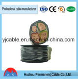 Yjv/Yjlv, Yjv22, Yjlv22, 4 Aluminum/Copper Core XLPE Insulated Electrical Power Cable, Multiplex Core, Railway