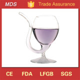 High Borosilicate Vampire Red Wine Glass with Drinking Tube Straw