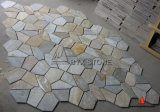 Yellow Wooden Stone Slate Tile/Quartzite for Paving