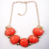 New Item Red Resin Acrylic Fashion Jewellery Necklace