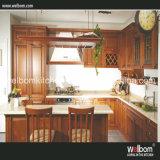 2016 Welbom Antique Red Solid Wood Kitchen Cabinet