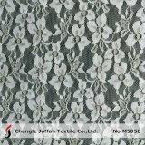 White Spandex Allover Lace Fabric (M5058)