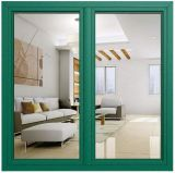 High Quality Double Glazed Green Color Aluminum Casement Glass Window with German Roto Hardware (ACW-070)