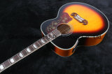 Musical Instruments Tiger Flame Maple Solid Top Acoustic Guitar (J200)