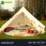 Dia 3m 4m 5m 6m 100% Cotton Waterproof Mesh Camping Hotel Bell Tent Canvas Bell Tent
