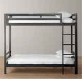 Glossy White Metal Bunk Bed