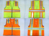 High Visibility Reflective Warning Vest with Zipper