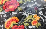 Colorful Flower Water Soluble Embroidery Lace for Garment