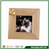 Simple Square Brown Wooden Picture Frame for Gift (MGM-PF72)
