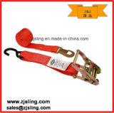 "2"" Flat/S Hook Ratchet Strap 2"" X 8′ Red"