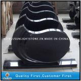 European Style Absolute Black Granite Tombstone for Memorial