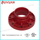 Non-Lead Orange Paint Grooved Flange Adapter 2-1/2""
