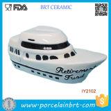 Creative Decoration Passenger Ship Ceramic Money Box