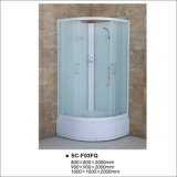 High Tray Quadrant Shower Room with Fabric Tempered Glass