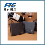 New Black RFID Blocking Leather Men′s RFID Wallet