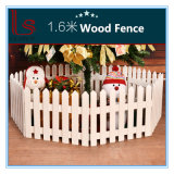 Christmas Tree Decoration Christmas Scene Window Display Props 1.6 Meters Wooden Fence
