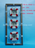 Three Liftbuoy Decoration with Wooden Frame (DTHY6025-1)