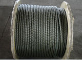 Ungalvanized and Black Steel Wire Rope with Steel Core 6X36sw+Iwrc