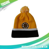 Customized Embroidery Winter Plain Knitted Beanies Hats with Ball (103)