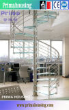 Interior Tempered Laminated Glass Steps Spiral Staircase
