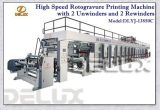 Auto Rotogravure Printing Machine with 2 Unwinders & 2 Rewinders (DLYJ-13850C/S)
