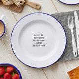 High Quality Vintage Enamel Plates, Enamel Serving Dish, Metal Platters, Enamel Round Plate
