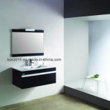 Lifting up Bathroom Cabinets with Mirror and Ceramic Basin