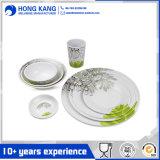 Eco-Friendly Full Size Melamine Dinnerware Dinner Table Set