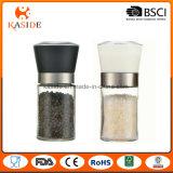 Glass Spice Jar Manual Operate Salt & Pepper Mill