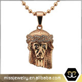 Hot Selling 925 Silver Micro Pave CZ Jesus Pendant for Men
