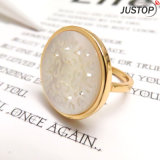 Artificial Engraving Sea Shell Gold Ring for Women