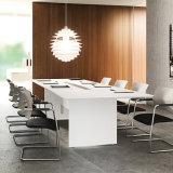 Modern Office Furniture Standard Dimensions Conference Room Sets Table White with Us USB Socket