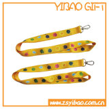 Plastic Buckle Plat Polyester Lanyard with Metal Hook (YB-LY-33)