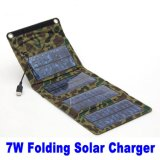 7W High Efficiency Portable Solar Charger for Emergency Power