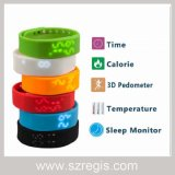LED Screen 3D Stereo Silicone Sleep Monitor Sports Smart Bracelet