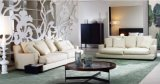White Modern Fabric Sectional Sofa Set for Living Room
