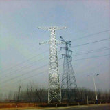 220kv Tension Single Circuit Steel Power Transmission Tower