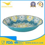 "Ce Certificated High Quality 12"" Round Shape Melamine Flower Dinner Bowl"