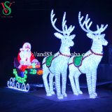 Outdoor Motif Acrylic Reindeer Sleigh Light